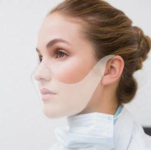 Blocc transparent protecteur facial anti-buée visage imperméable Masque visage réutilisable Cover Durable Masques Respirant Party Visor gratuit DHL