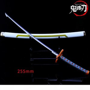 19Styles Anime Katana Demon Slayer Kimetsu no Yaiba Cartoon Kamado Tanjirou Sword Keychains Blade of Ghost Keyring Model