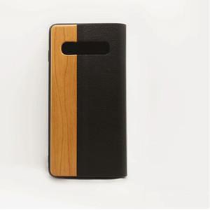Virar madeira para o iPhone 7 8 Plus casos genuínos Bamboo carteira de couro stand iPhone 11 Pro Max Caso