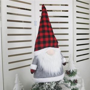 Büyük Gnome Yılbaşı Ağacı Topper Noel Süsler 25 İnç Geniş Santa Cüceler Peluş İskandinav Süsleri EWE1254