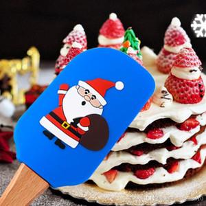 Christmas Silicone Spatula Cute Santa Claus Cake Batter Scraper Cake Cream Butter Spatula Mixing Batter Scraper Brush Baking Tool DBC VT1204