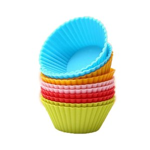High Quality Silicone Cake Mold Round Shaped Muffin Cupcake Baking Molds DIY Cake Kitchen Cooking Bakeware Maker Decorating Tools