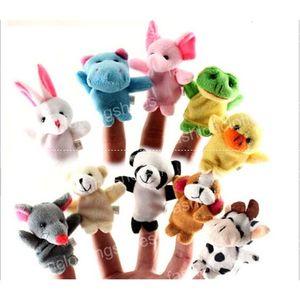 Распродажа! Экспресс Finger Puppets Плюшевые игрушки Говоря Реквизит 10 различных животных Набор Игрушки для младенцев Дети