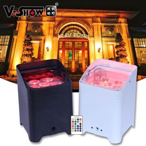 Batterie sans fil Uplighting DMX WiFi Remote Mariage Uplight 6x18W RGBWA UV 6IN1 LED par DJ Élevé 6pcs et charge Flightcase