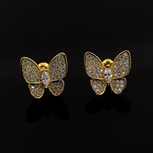 Quality Fashion Micro Pave Premium Zircon Crystals Butterfly Earrings Wedding Luxury Jewelry for Women