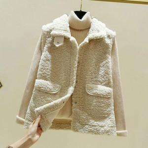 2020 Herbst-Winter-Weste Weste Frauen Ärmel Jacke Frauen warme Fleece Thermal Vest Weiblich