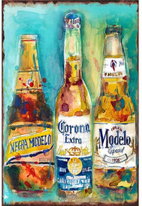 Modelo Beer Tin Sign Vintage Wall Poster Retro Iron Painting Metal Plaque Sheet for Bar Cafe Garage Home Gift Birthday Wedding