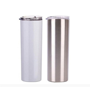 US Stock 20 oz Sublimation Blank Skinny Tumbler DIY Tapered Stainless Steel Cup Double Wall Car Cups Coffee Beer Mug