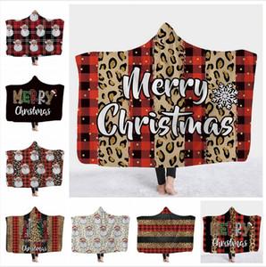 Çocuklar Kapüşonlu Battaniye 130 * 150 cm Çocuk Noel Battaniye 3D Baskılı Yıkanabilir Sıcak Yatak Velet Polar Atmak Battaniye Deniz Nakliye DDA730