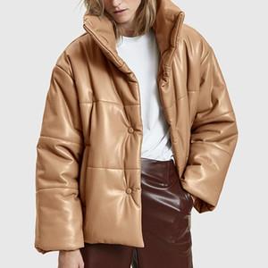 Ranmo عالية تقليد الجلود ستر المرأة أزياء بو الجلود معاطف المرأة أنيقة الصلبة القطن جاكيتات الإناث السيدات كغ