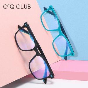 O-Q CLUB Kids Glasses TR90 Square Comfortable Eyewear Anti-Blue Light Blocking Eyeglasses UV400 Computer Boys Girls Spectacles