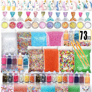 72 73 Pack Making Kits Supplies For Slime Stuff Charm Fishbowl Beads Glitter Pearls DIY Handmade Color Foam Ball Material Set LJ200922