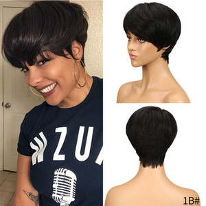 Dilys Short Human Hair Wigs For Women Brazilian Virgin Human Hair Wig Remy Human Hair Pixie Cut Lace Wigs For Black Women