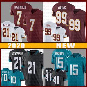 99 Chase Young 15 Allen Robinson Football Jersey 7 Dwayne Haskins Sean Taylor 21 C. Henderson 41 Josh Allen Jerseys