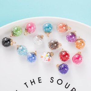 10PCS 16Colors Transparent Ball Glass Star Round Charms Pendant DIY Keychain Chokers Earring Accessories Jewelry Charm 16mm