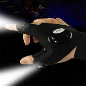 LED ضوء اصبع قفازات الإضاءة لتصليح السيارات في الهواء الطلق اللمعان قطعة أثرية HVIB #