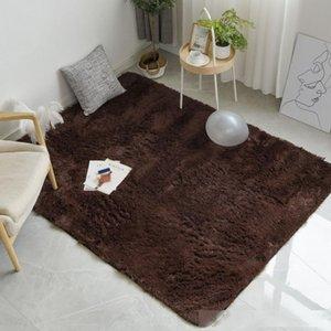 İskandinav Moda Kabarık Kaymaz Karışık Boyalı Halı Oturma odası Yatak Merkezi Halı Siyah Gri Kahverengi Mavi Renk Ev Dekorasyon