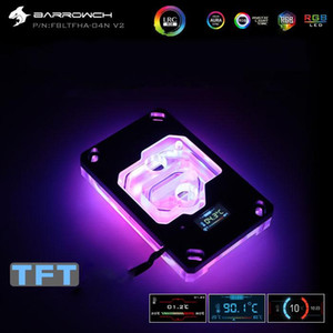 Barrowch CPU Water Block use for AMD RYZEN AM3 AM4 with dynamic color screen  RGB Light compatible 5V 3PIN Header in Motherboard