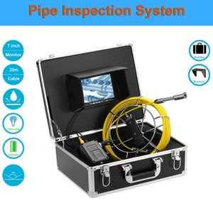 """7"""" Monitor 20 30 40 50M Pipe Inspection Video Camera 23mm HD 1000TVL Lens Drain Sewer Pipeline Industrial Endoscope System"""