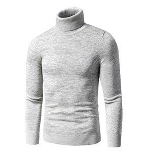 Fjun 2020 Pulls d'hiver d'hiver pour hommes Casual Coton Coton Turtleneck pull