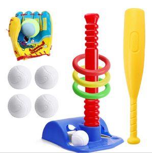 New Soft Baseball Set Toys Bat Gloves Ball toy for Kids Children Sports Gift Kids Children Gift Baby Baseball Outdoor Toys