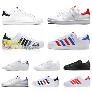 2021 Stan Smith Superstars Mens Womens Casual Shoes Tripler Black Oreo Golden Platform fashion Superstars Sneakers flat Trainers 36-45