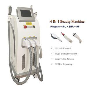 Machine de retrait de poils et de tatouage Picolaser multifonction 755nm Picosecond Retirez-vous TRACKLE IPL Épilation au laser Equipement de beauté
