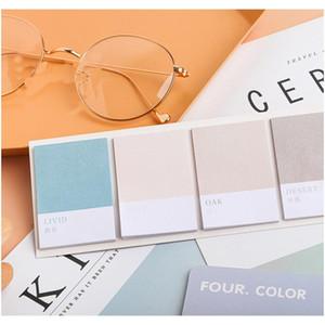 Mohamm Roue de quatre couleurs Série Kawaii Mignonne Notes Sticky Notes Memo Pad Diary Papeterie 80PCS F SQCNEQ