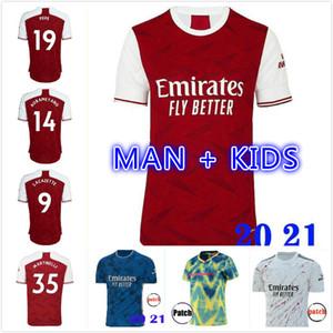 Fan Player Versione Arsen Soccer Jersey 20 21 Pepe Saka Nicolas Ceballos Guendouzi Sokratis Maitland-Niles 2020 2021 Camicia da calcio Uomini Bambini