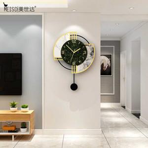 MEISD nórdica diseñador de acrílico del reloj de pared de cuarzo silencioso reloj de la sala de estar colgado en la pared Decoración Reloj envío