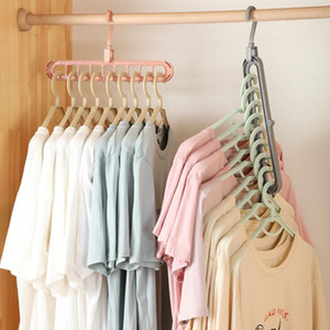 Magic Multi-port Support Hangers for Clothes Drying Rack Multifunction Plastic Clothes Rack Drying Hanger Storage Hangers