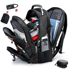 """Sixrays Swiss Multifuncledal 15.6 """"Backpack кейс втулки для ноутбука втулки водонепроницаемый USB зарядный порт Squebag Hiking Travel Bag 201118"""