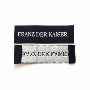 Damask Dokuma Etiketleri Giyim Konfeksiyon Etiketleri Için Konfeksiyon Etiketleri Dikiş Etiketleri ayakkabı için yan etiket için çanta için