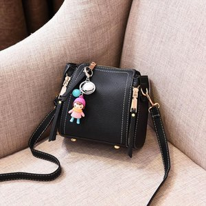 Ladies Pu Sweet Messenger Bag New Elegant Shoulder Bag Ladies Soft Fashion Messenger Classic Design Handbag