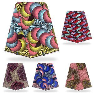Новое поступление African Golden Wax Ткань Хлопок Материал высокого качества печати Stretch нигерийского Ankara для швейных 6yards женщин платье