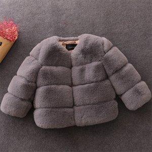 2019 veste bébé / manteau enfants / fille bébé manteau fausse fourrure X0923