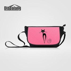 Dispalang Uxvvd Shoulder Art Chmh Girls Travel Cat Satchel Bag For Casual Printing Schoolbag Female Women Animal Handbag Crossbody Mess Rxwt