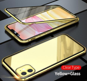 Magnetic Adsorption Metal Phone Case For Iphone Xr Xs X Xs 6 7 8 Plus 11 12 Pro Max Double Sided Tempered Glass F bbyXQJ bdepack2001