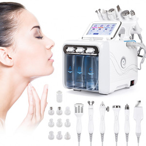6 in 1 Diamond Dermabrasion Machine Oxygen Jet Hydra Facial Machine Peeling Ultrasonic Scrubber RF Face Lift Microdermabrasion Machine