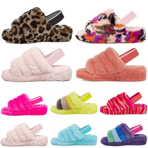 2021 Puffer Australiana dos EUA Womens Designer Slipper Furry Fluff Yeah Slides Pantoufles Fur Luxury Sandals # 151