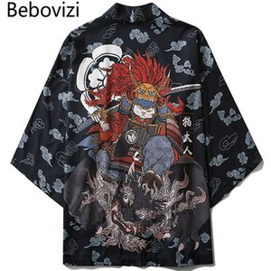 orld Apparel Asia & Pacific Islands Clothing Bebovizi Japanese Style Cat Samurai Kimono Streetwear Men Women Cardigan Japan Harajuku ...