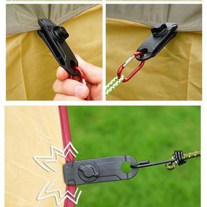 Clips Zelt Wanderung Tarp Clip Anker Outdoor Caravan Clamp Kiefer Grifflager Greiferfalle Ziehen Snap Marking Canopy T
