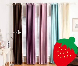 Flannel Curtains Shade Curtain Elegant Luxury Curtain Solid Color Window Drapes Bedroom 39 Colors Living Room Balcony