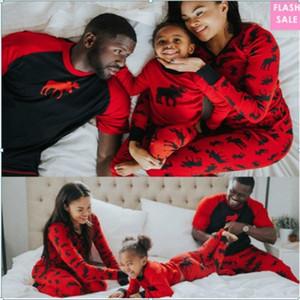 Weihnachtsfamilie Pyjamas Set Papa Mom und mir passende Outfits Mami Baby Kleidung Sehen Mutter Tochter Vater Sohn Nachtwäsche LJ201109