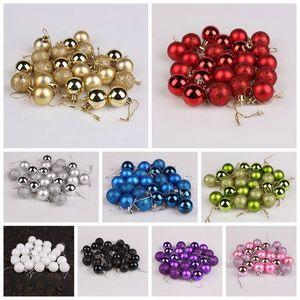 NewGlitter Xmas Tree 24 Colorful Home Pcs set Party Ball Baubles Garden Christmas Decoration Supplies Hot Sale 12 Colors