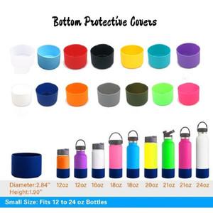 Coasters de borracha universais para 12 16 21 24 onças frascos Skidproof Copa da tampa do silicone inferior de protecção elástico de borracha Garrafa mangas BWD2273