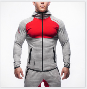 Mens Bodybuilding Hoodies Gym Workout Shirts Hooded Sport Suits Tracksuit Men Chandal Hombre Gorilla wear Animal