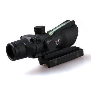 مشاهد Trijicon ACOG 4X32 الألياف البصرية التكتيكية مشاهد بندقية نطاق الصليب الصياد الصيد Llluminating مجهر الأسود