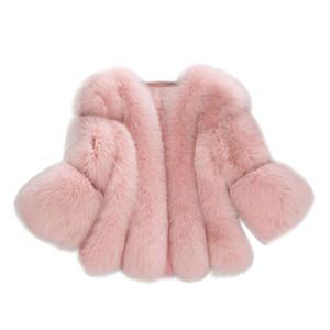 CHAMSGEND Winter Warm Fluffy Faux Fur Coats Jackets Women Furry Cropped Jacket Turn Down Collar Open Front Overcoat 1102 201016
