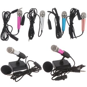 Portable 3.5mm Stereo Studio Mic KTV Karaoke Mini Microphone For Cell Phone PC Mic size app.5.5cm*1.8cm